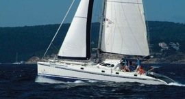 Catamaran charter and cooking